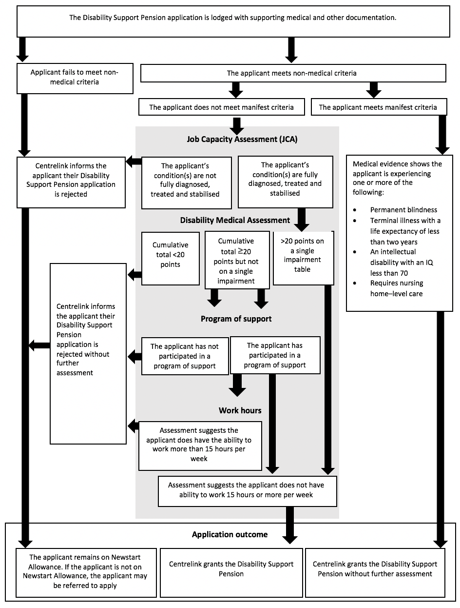 Figure 1. Disability Support Pension claim assessment process